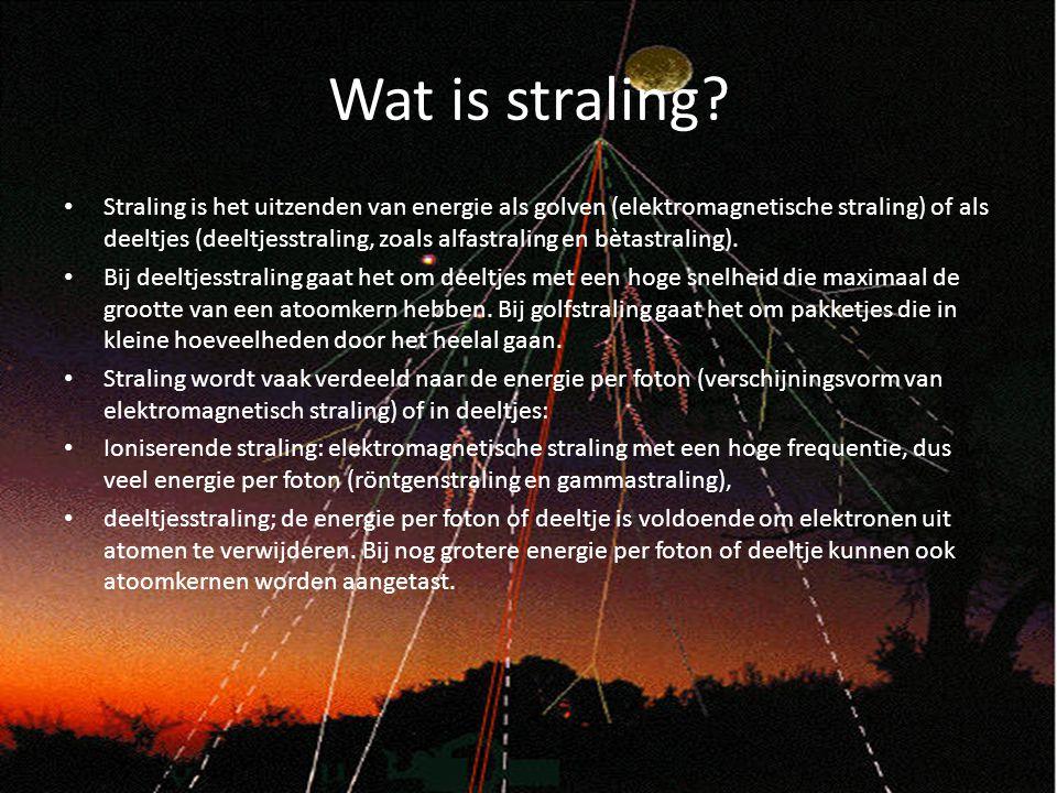 Wat is straling