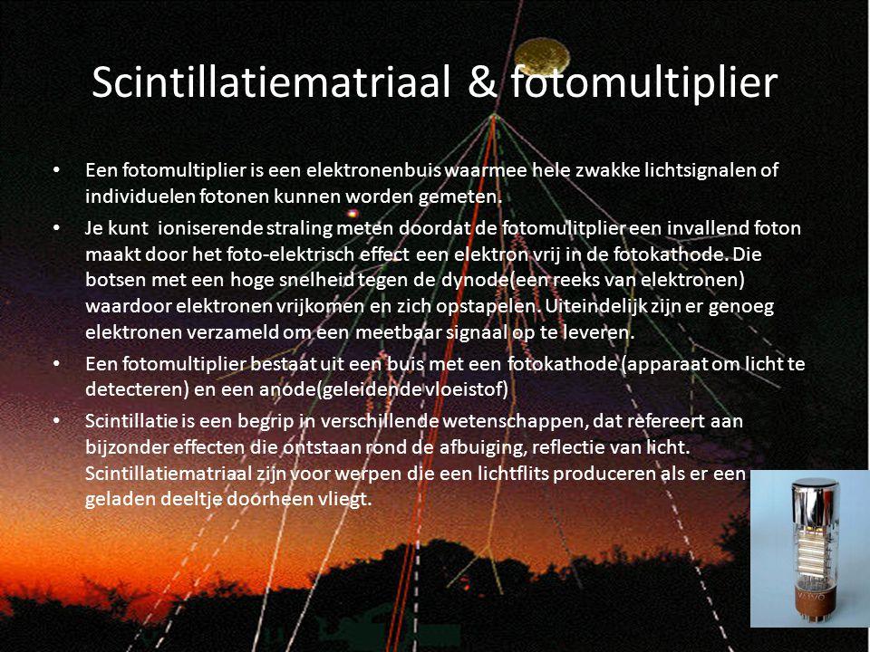 Scintillatiematriaal & fotomultiplier