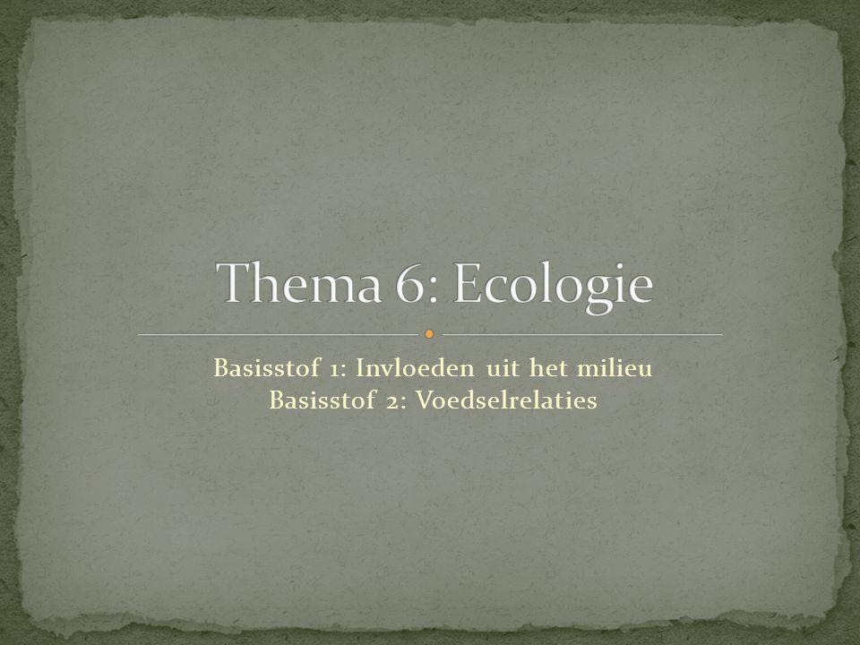 Basisstof 1: Invloeden uit het milieu Basisstof 2: Voedselrelaties