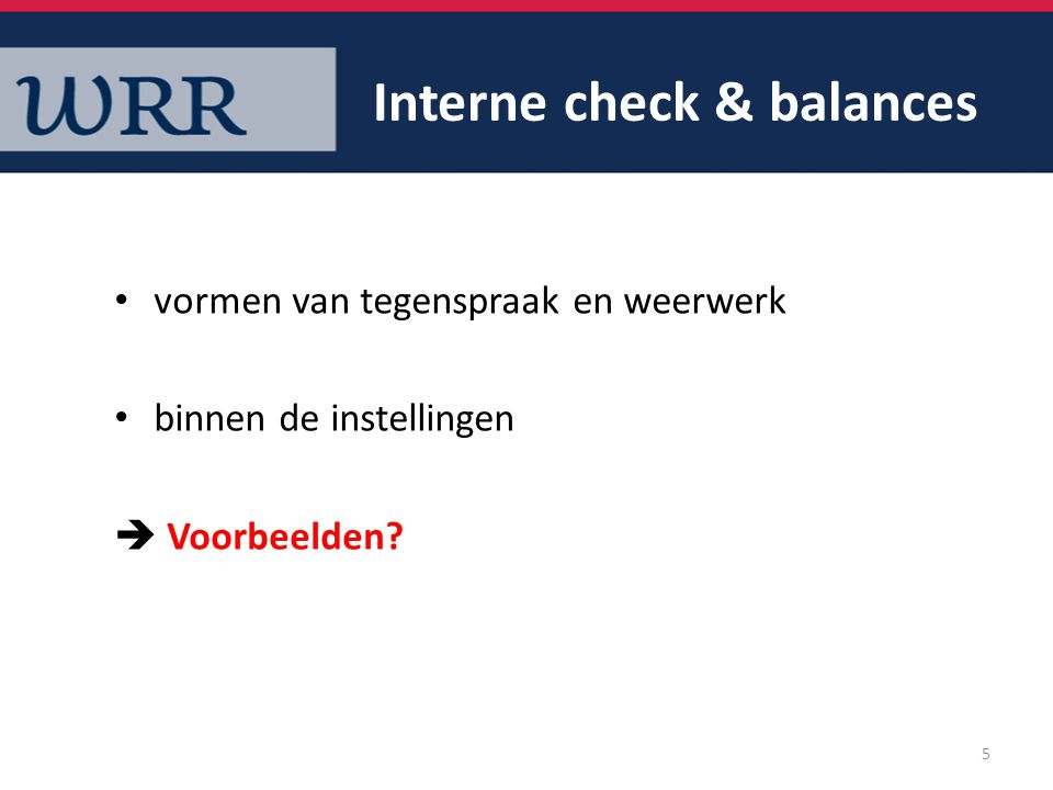 Interne check & balances