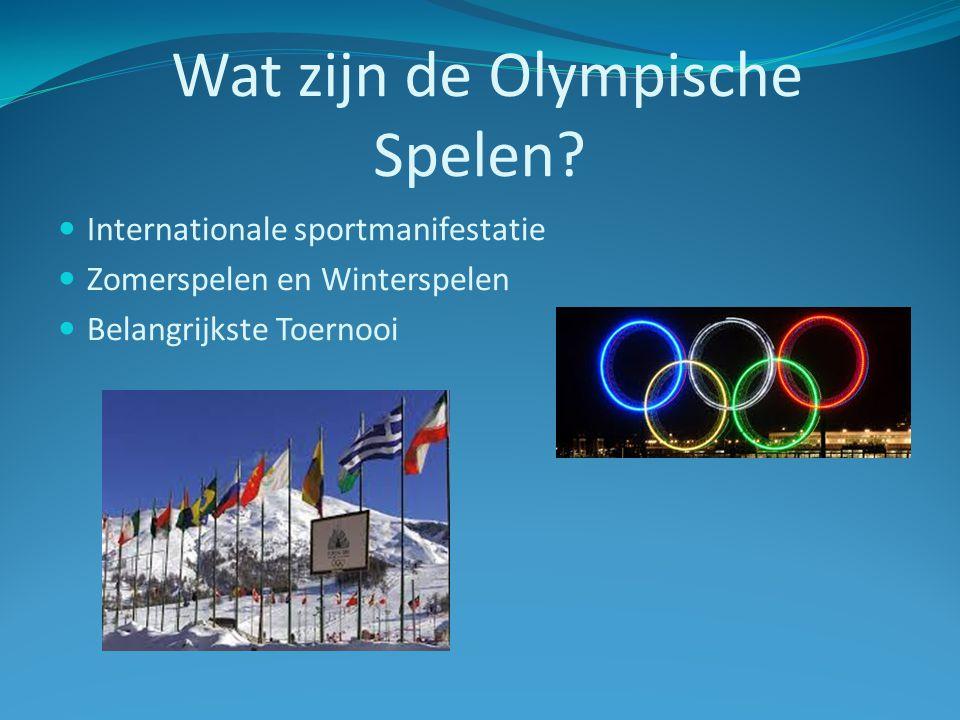 Wat zijn de Olympische Spelen