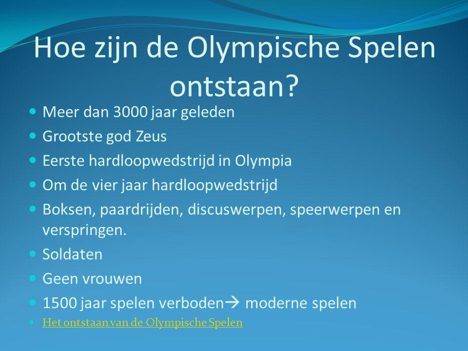 Hoe zijn de Olympische Spelen ontstaan