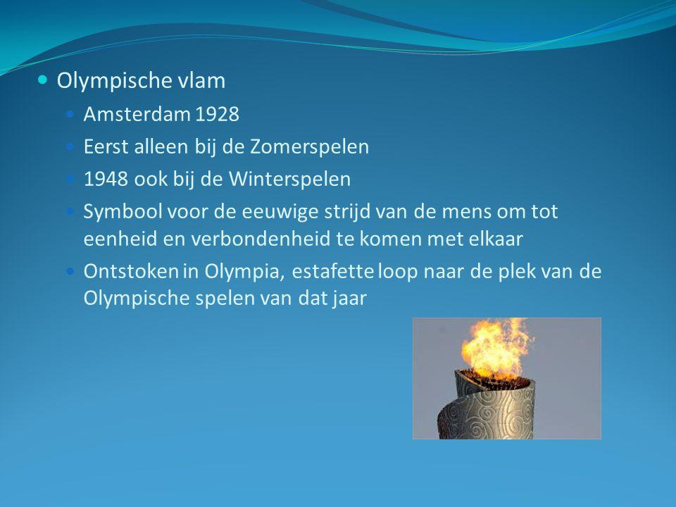 Olympische vlam Amsterdam 1928 Eerst alleen bij de Zomerspelen