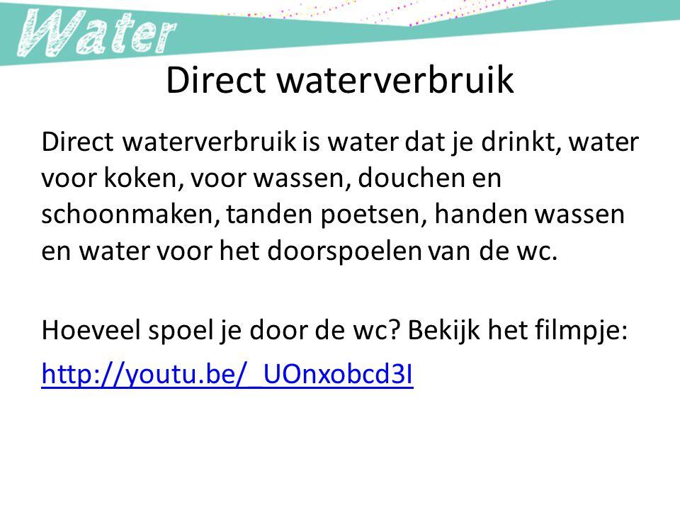 Direct waterverbruik