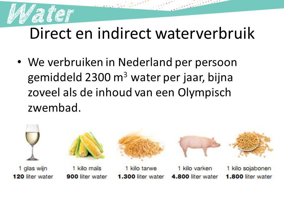 Direct en indirect waterverbruik