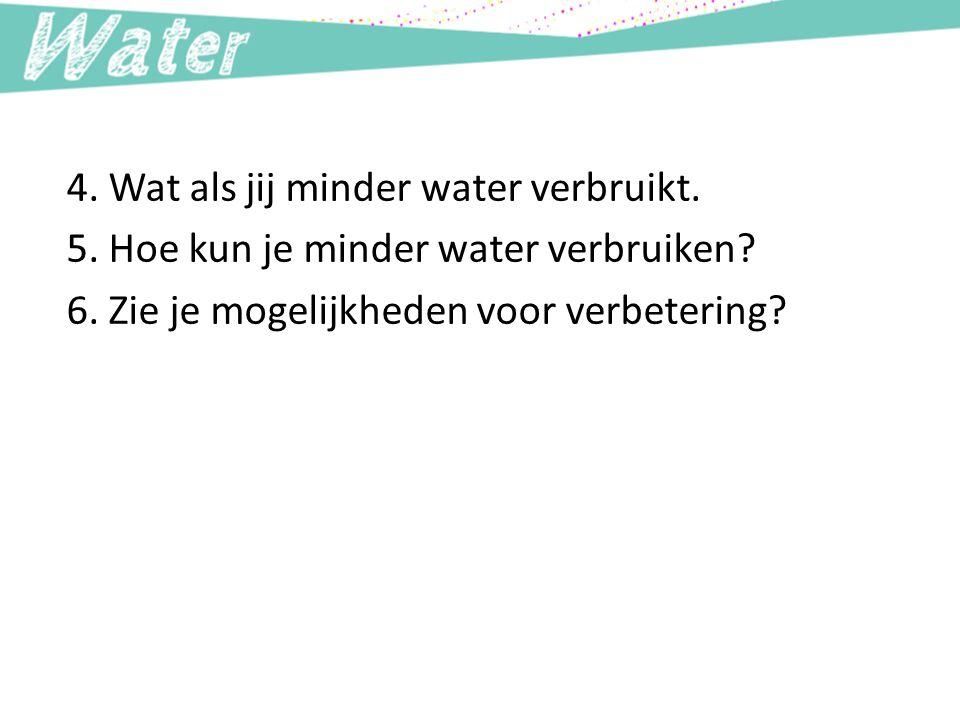 4. Wat als jij minder water verbruikt.
