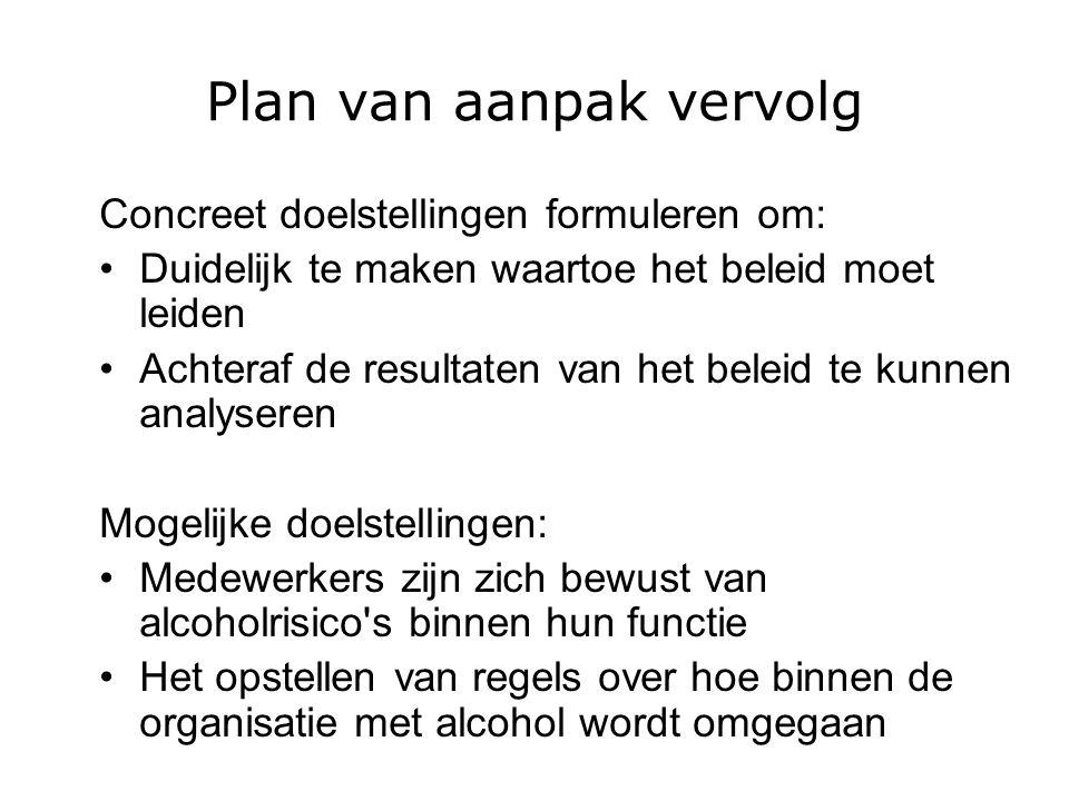 Plan van aanpak vervolg