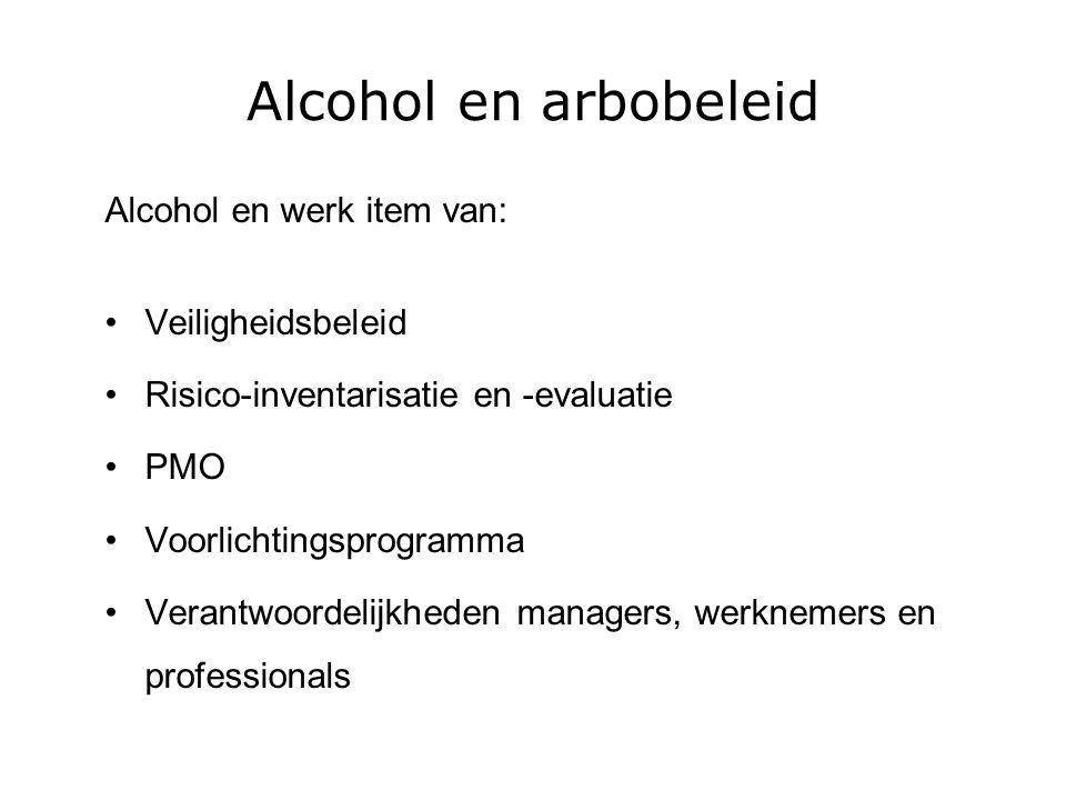 Alcohol en arbobeleid Alcohol en werk item van: Veiligheidsbeleid