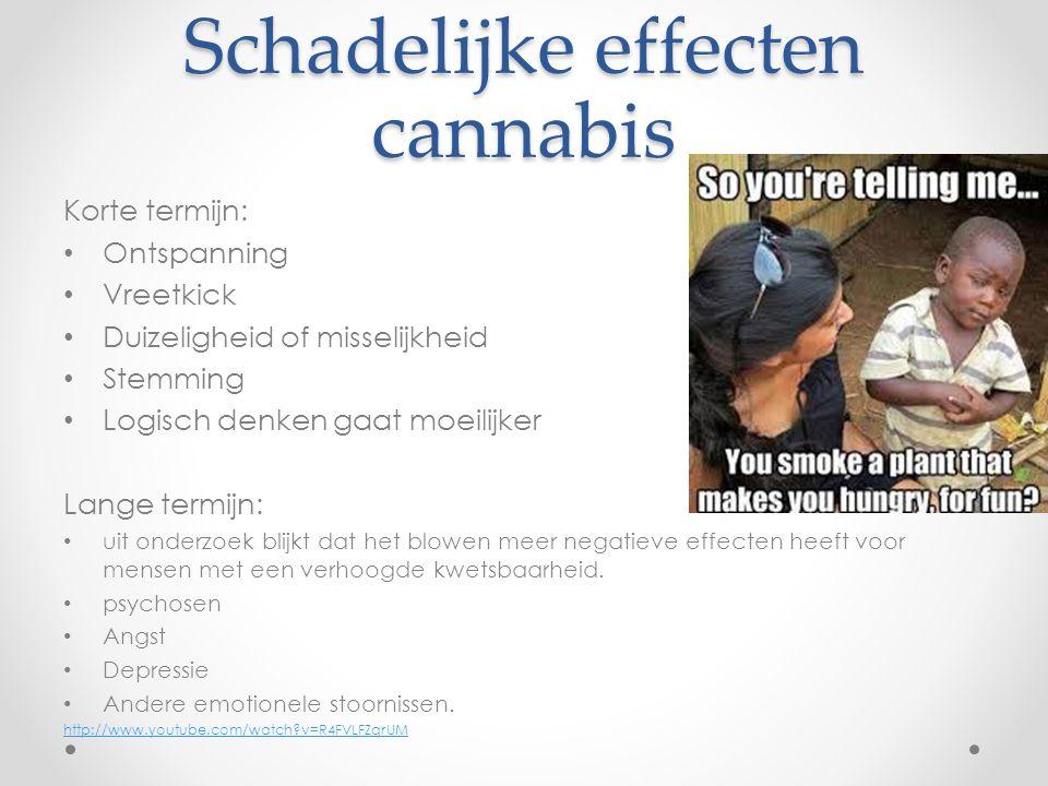 Schadelijke effecten cannabis