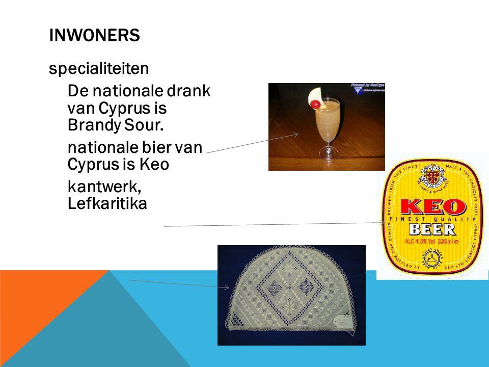 Inwoners specialiteiten De nationale drank van Cyprus is Brandy Sour.