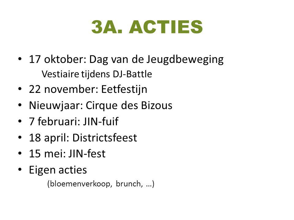 3A. ACTIES 17 oktober: Dag van de Jeugdbeweging
