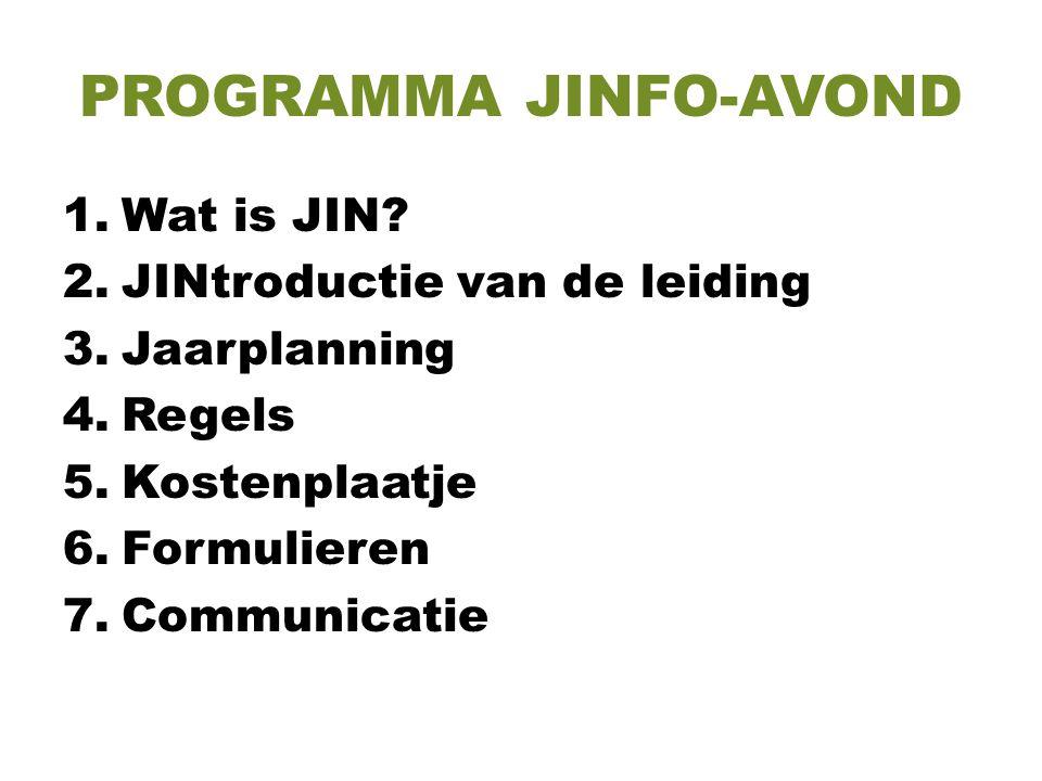 PROGRAMMA JINFO-AVOND