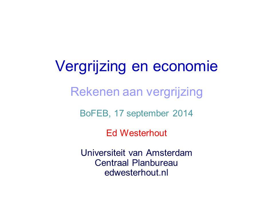 Vergrijzing en economie