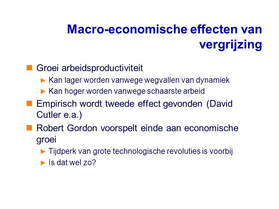 Macro-economische effecten van vergrijzing