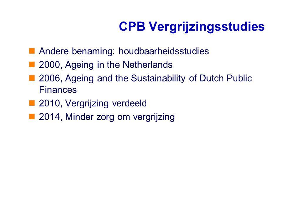 CPB Vergrijzingsstudies