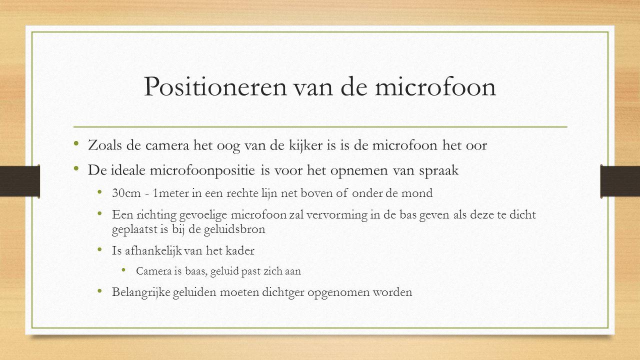 Positioneren van de microfoon