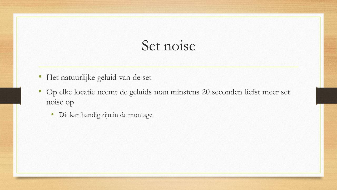 Set noise Het natuurlijke geluid van de set