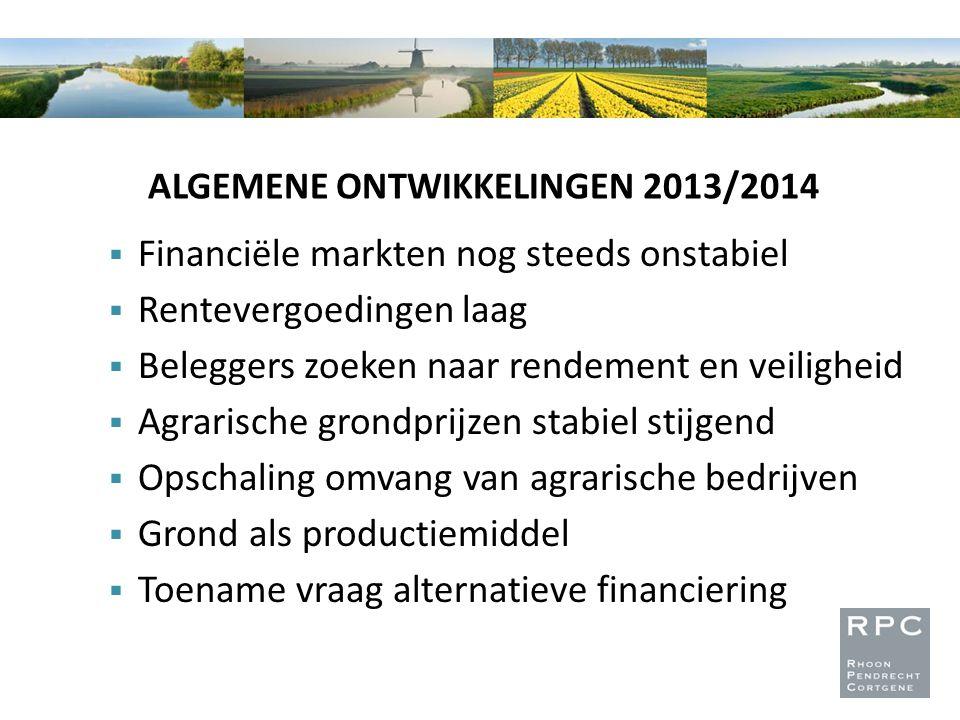 ALGEMENE ONTWIKKELINGEN 2013/2014