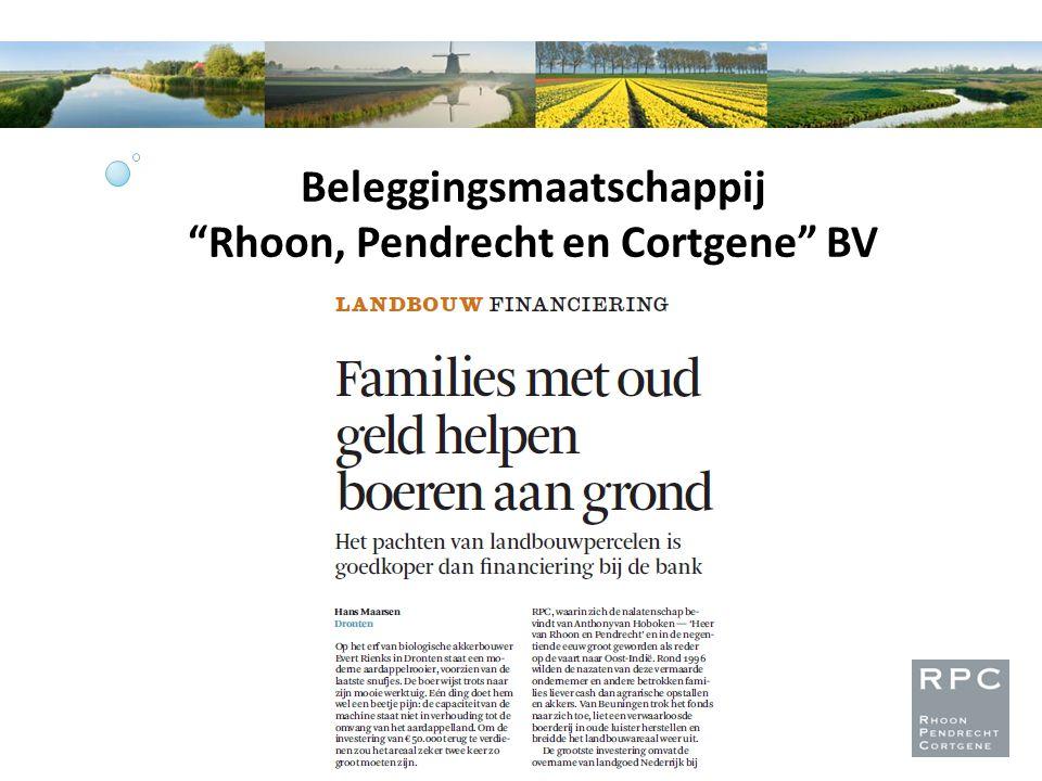 Beleggingsmaatschappij Rhoon, Pendrecht en Cortgene BV