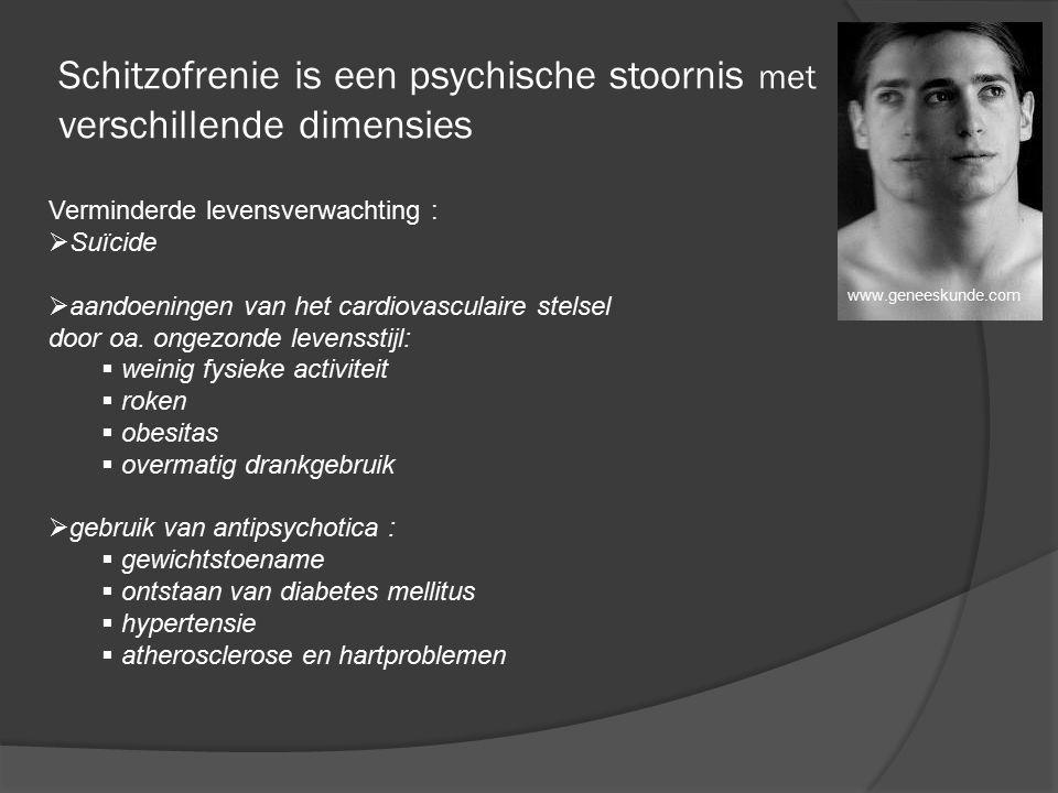 Schitzofrenie is een psychische stoornis met verschillende dimensies