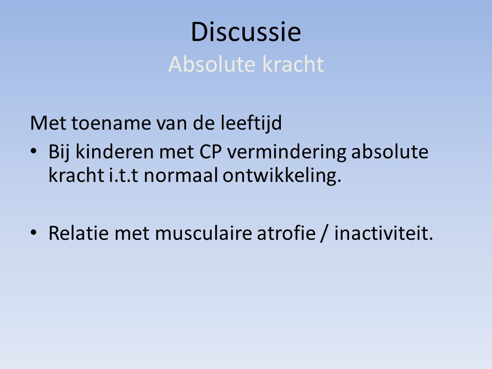 Discussie Absolute kracht