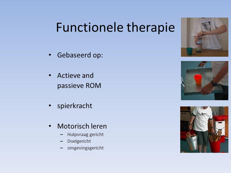 Functionele therapie Gebaseerd op: Actieve and passieve ROM