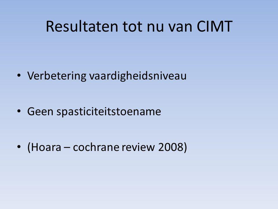 Resultaten tot nu van CIMT