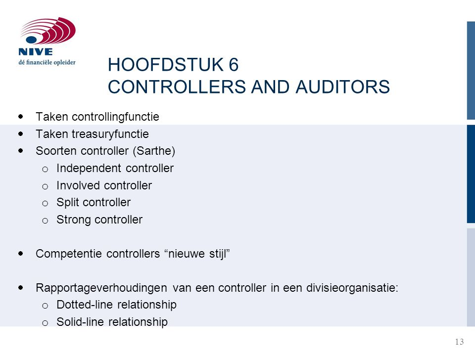 HOOFDSTUK 6 CONTROLLERS AND AUDITORS