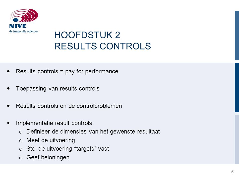 HOOFDSTUK 2 RESULTS CONTROLS