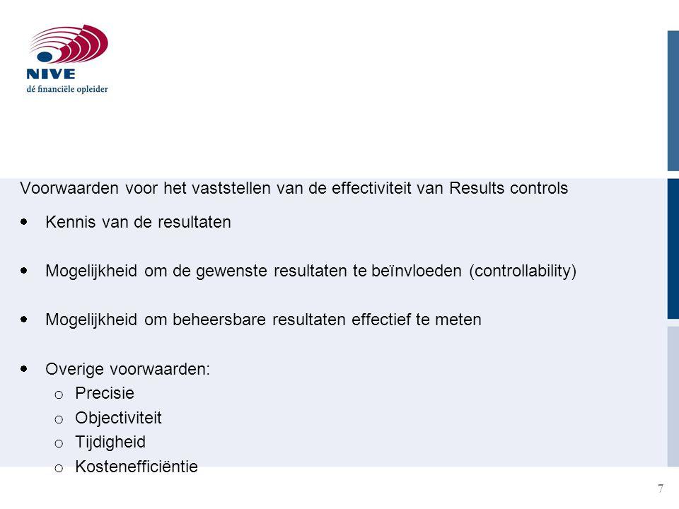 Voorwaarden voor het vaststellen van de effectiviteit van Results controls