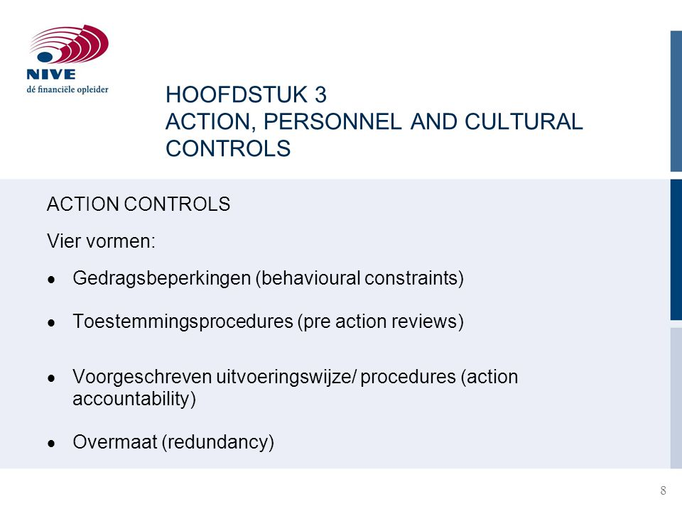 HOOFDSTUK 3 ACTION, PERSONNEL AND CULTURAL CONTROLS