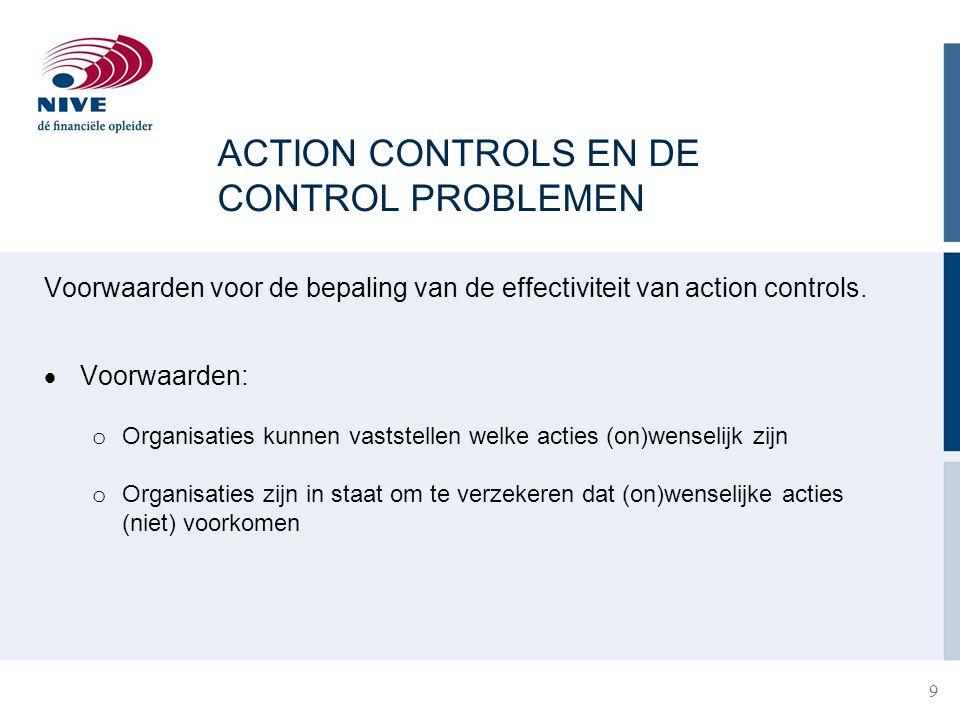 ACTION CONTROLS EN DE CONTROL PROBLEMEN