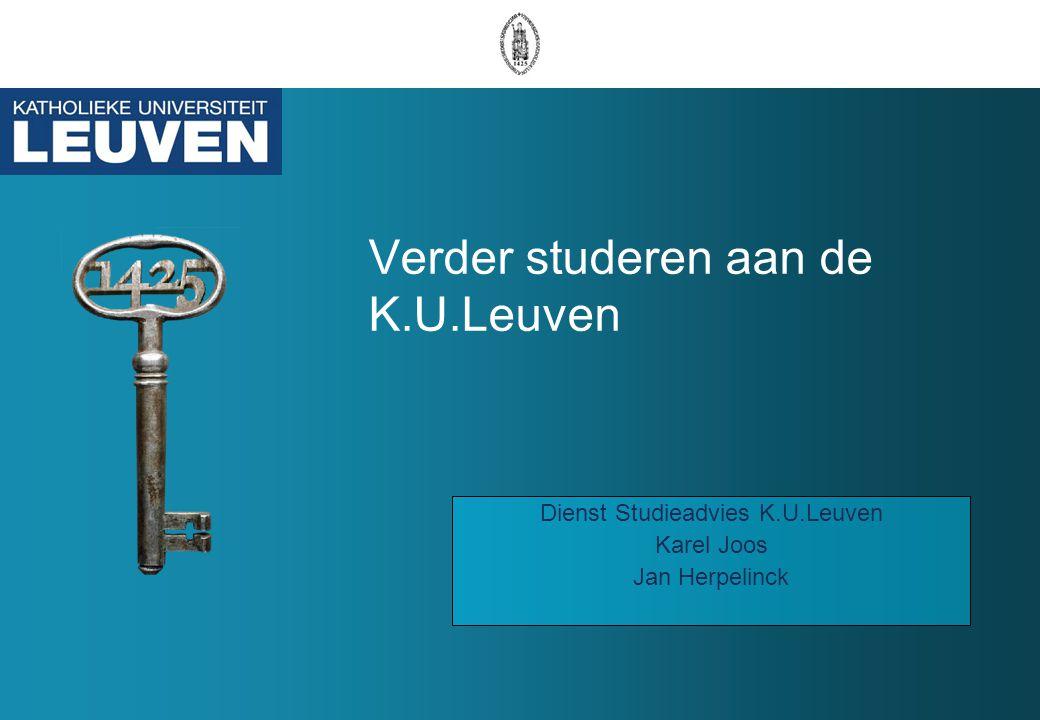 Verder studeren aan de K.U.Leuven