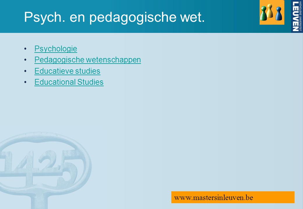 Psych. en pedagogische wet.