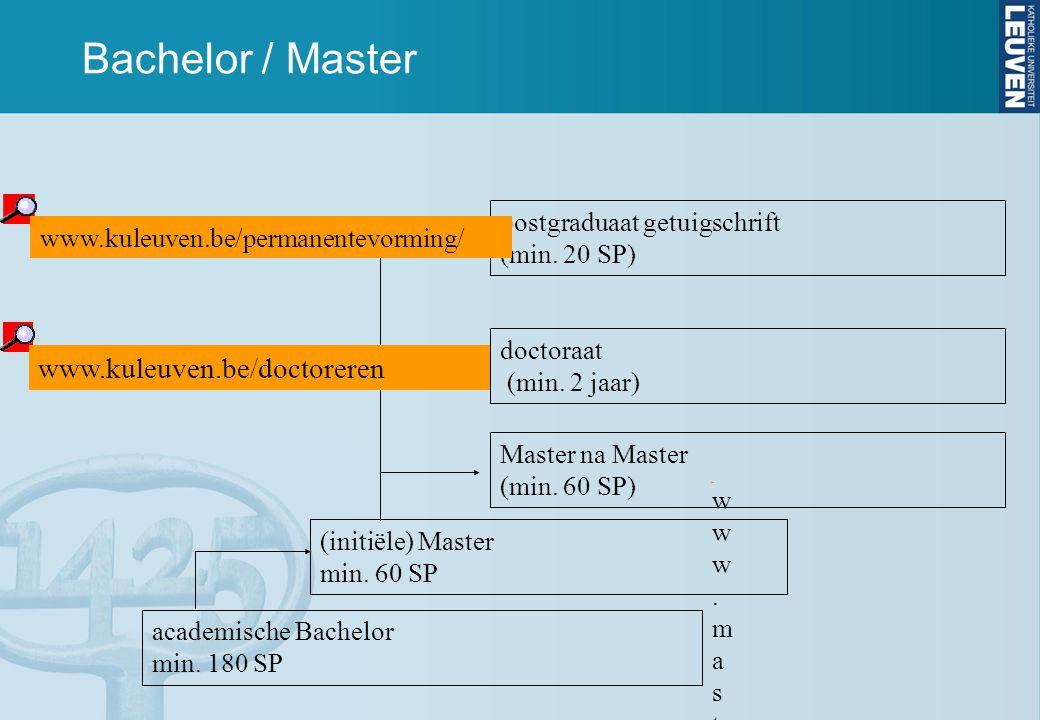 Bachelor / Master www.kuleuven.be/doctoreren