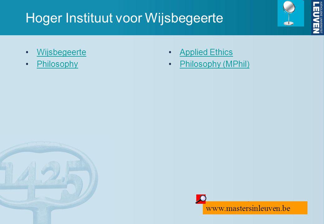 Hoger Instituut voor Wijsbegeerte