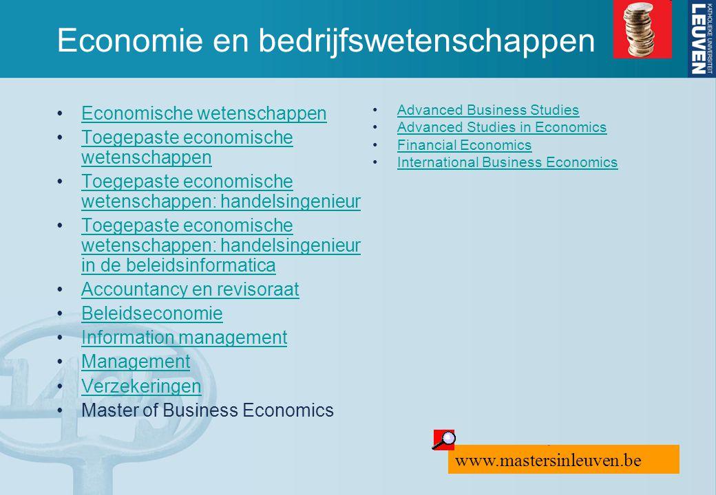 Economie en bedrijfswetenschappen