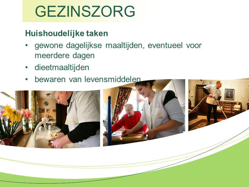 GEZINSZORG Huishoudelijke taken