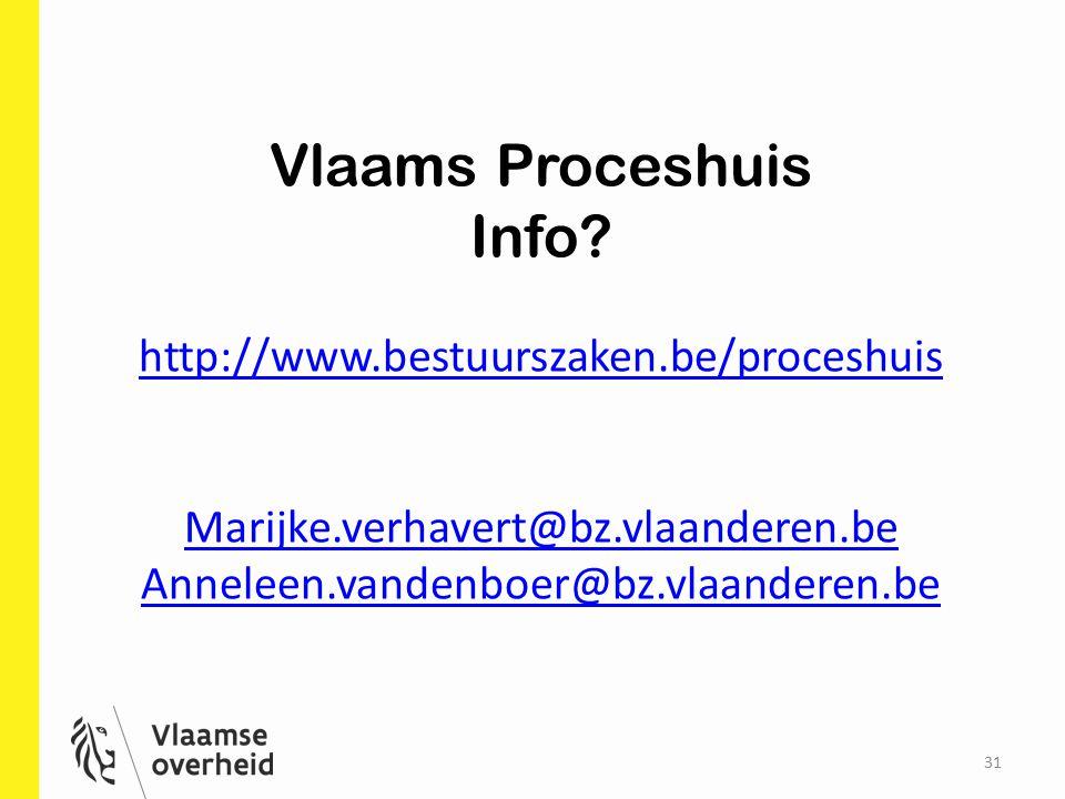 Vlaams Proceshuis Info http://www.bestuurszaken.be/proceshuis