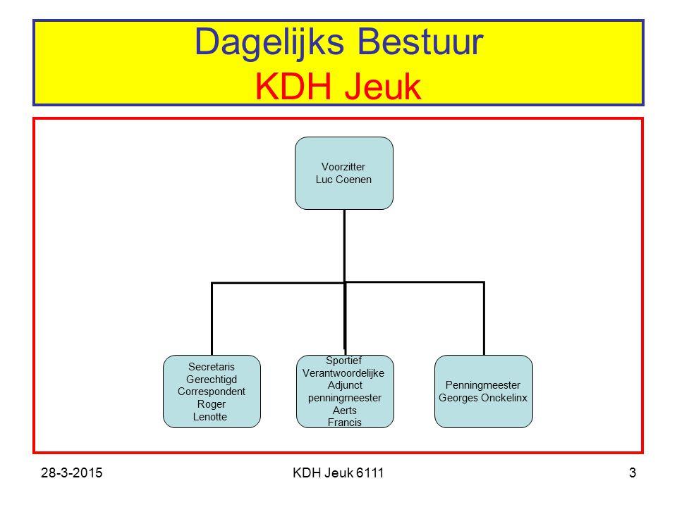 Dagelijks Bestuur KDH Jeuk