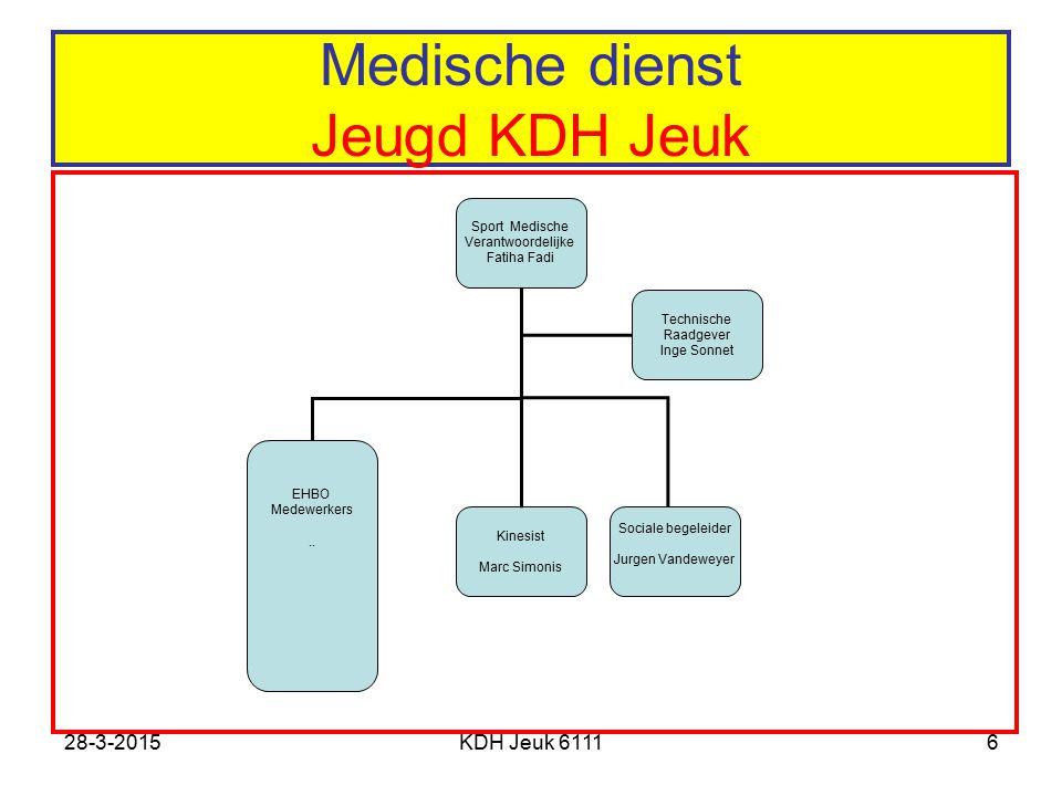 Medische dienst Jeugd KDH Jeuk