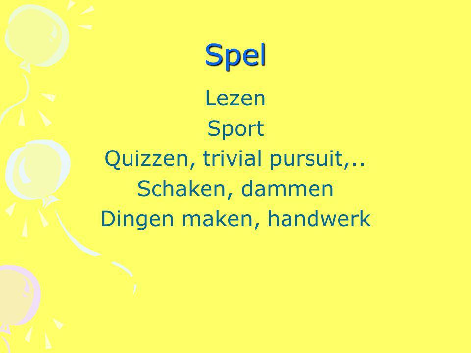 Quizzen, trivial pursuit,..