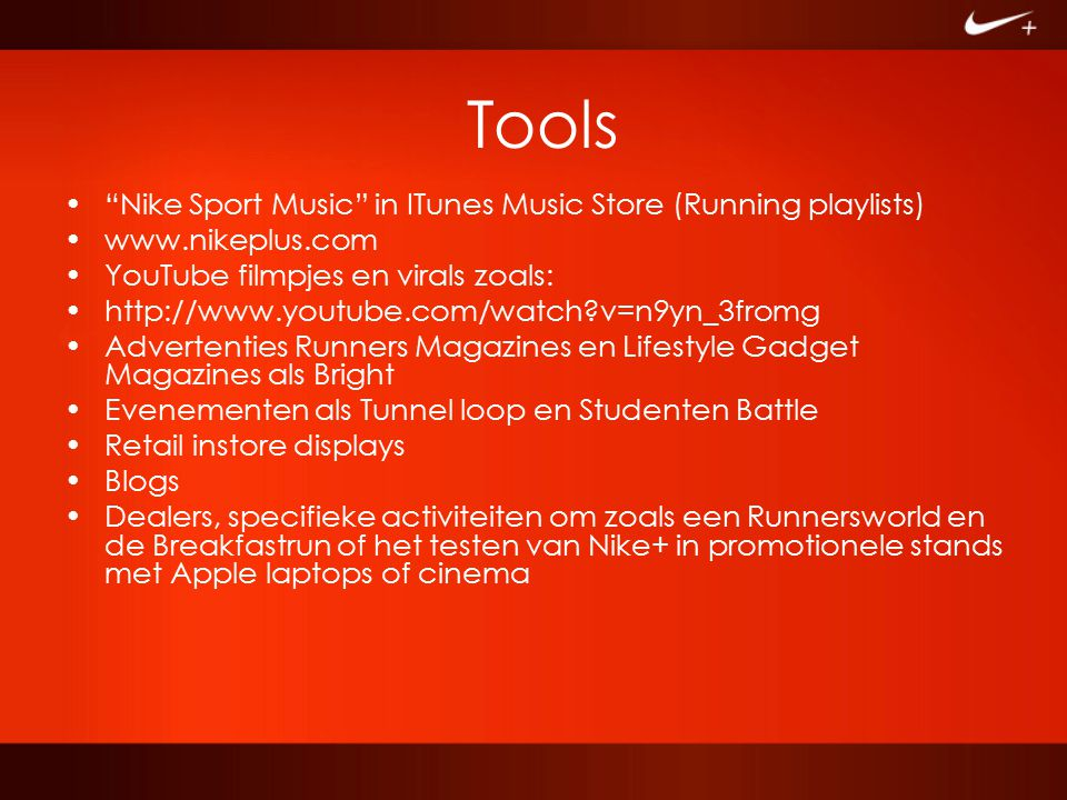 Tools Nike Sport Music in ITunes Music Store (Running playlists)