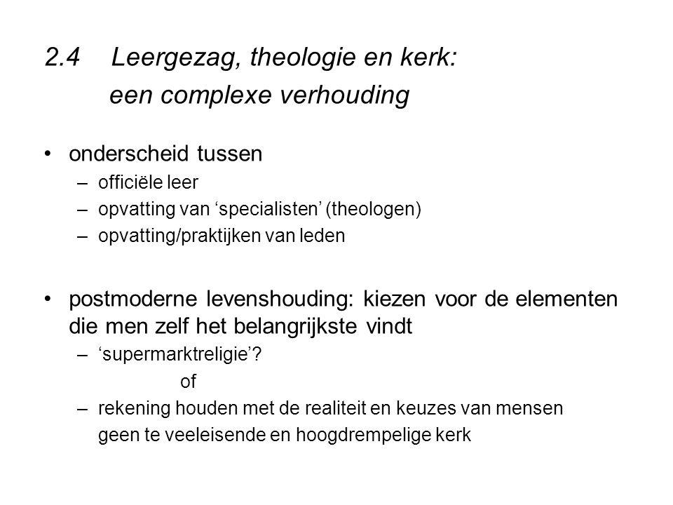 2.4 Leergezag, theologie en kerk: een complexe verhouding