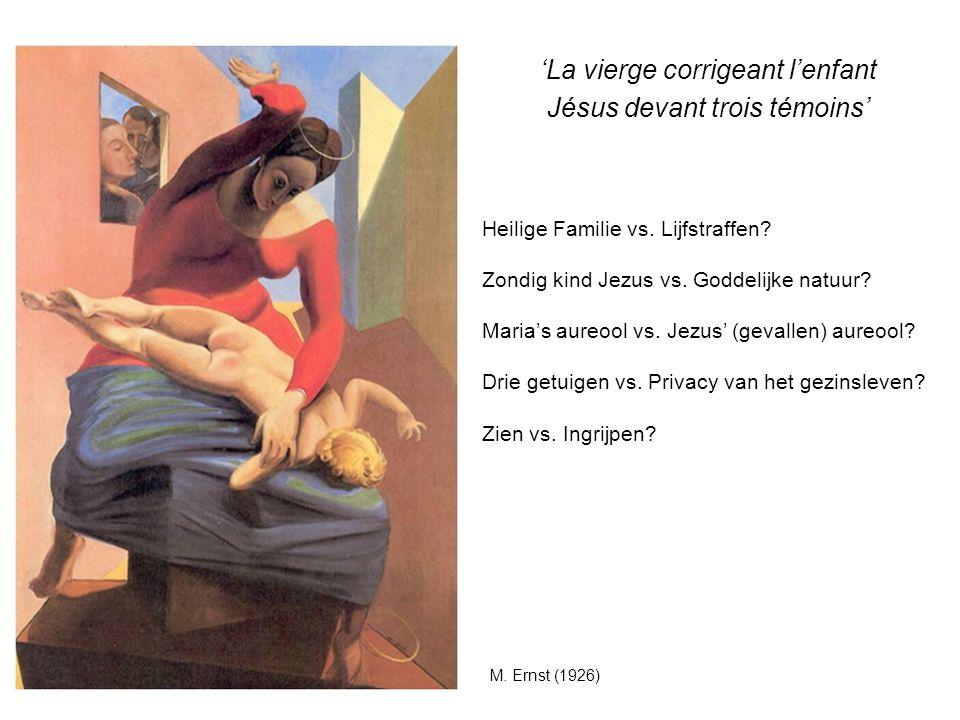 'La vierge corrigeant l'enfant Jésus devant trois témoins'