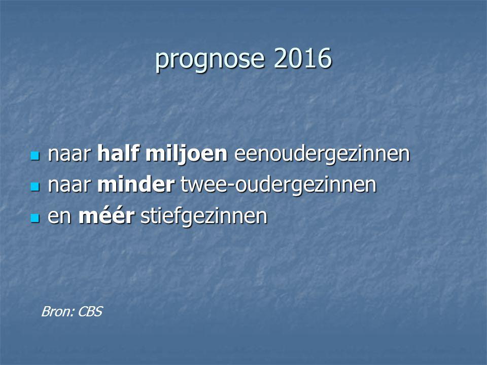 prognose 2016 naar half miljoen eenoudergezinnen