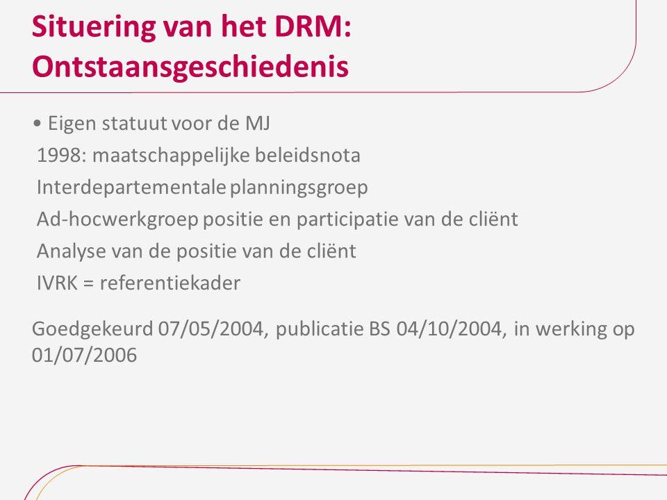 Situering van het DRM: Ontstaansgeschiedenis