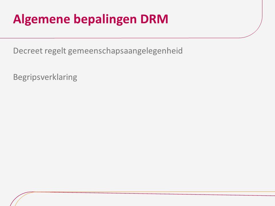 Algemene bepalingen DRM