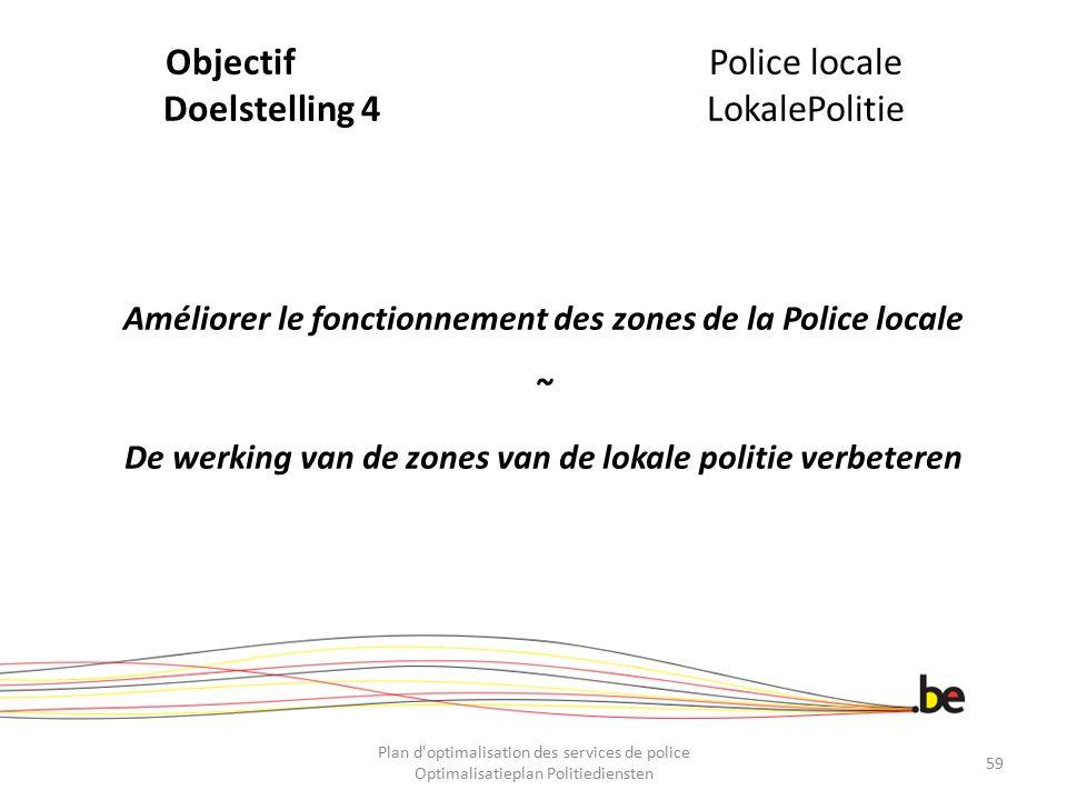 Objectif Police locale Doelstelling 4 LokalePolitie