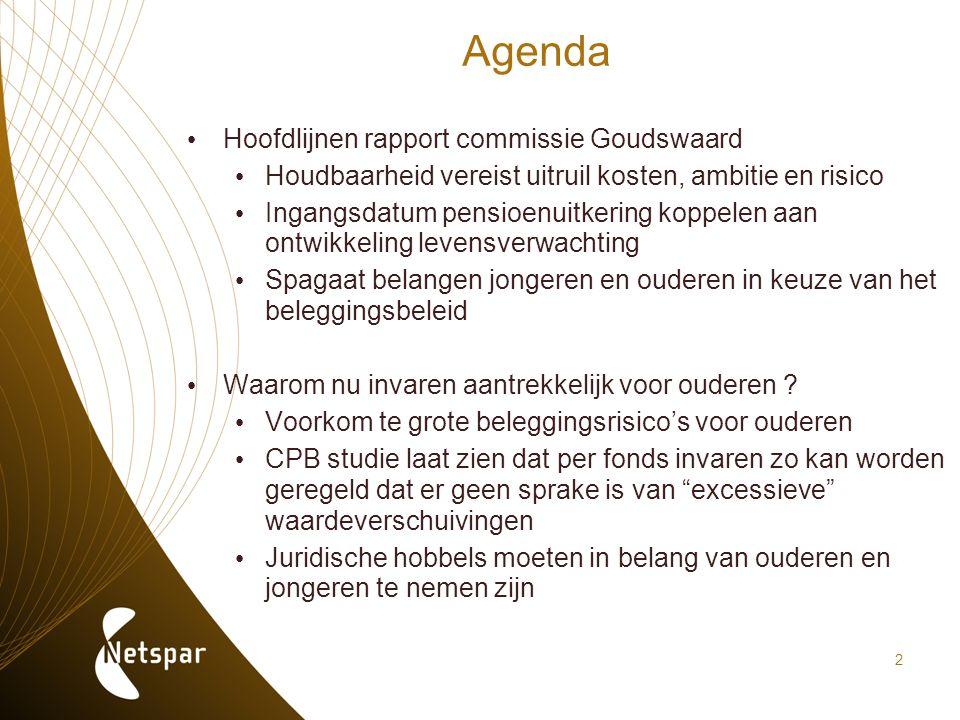Agenda Hoofdlijnen rapport commissie Goudswaard